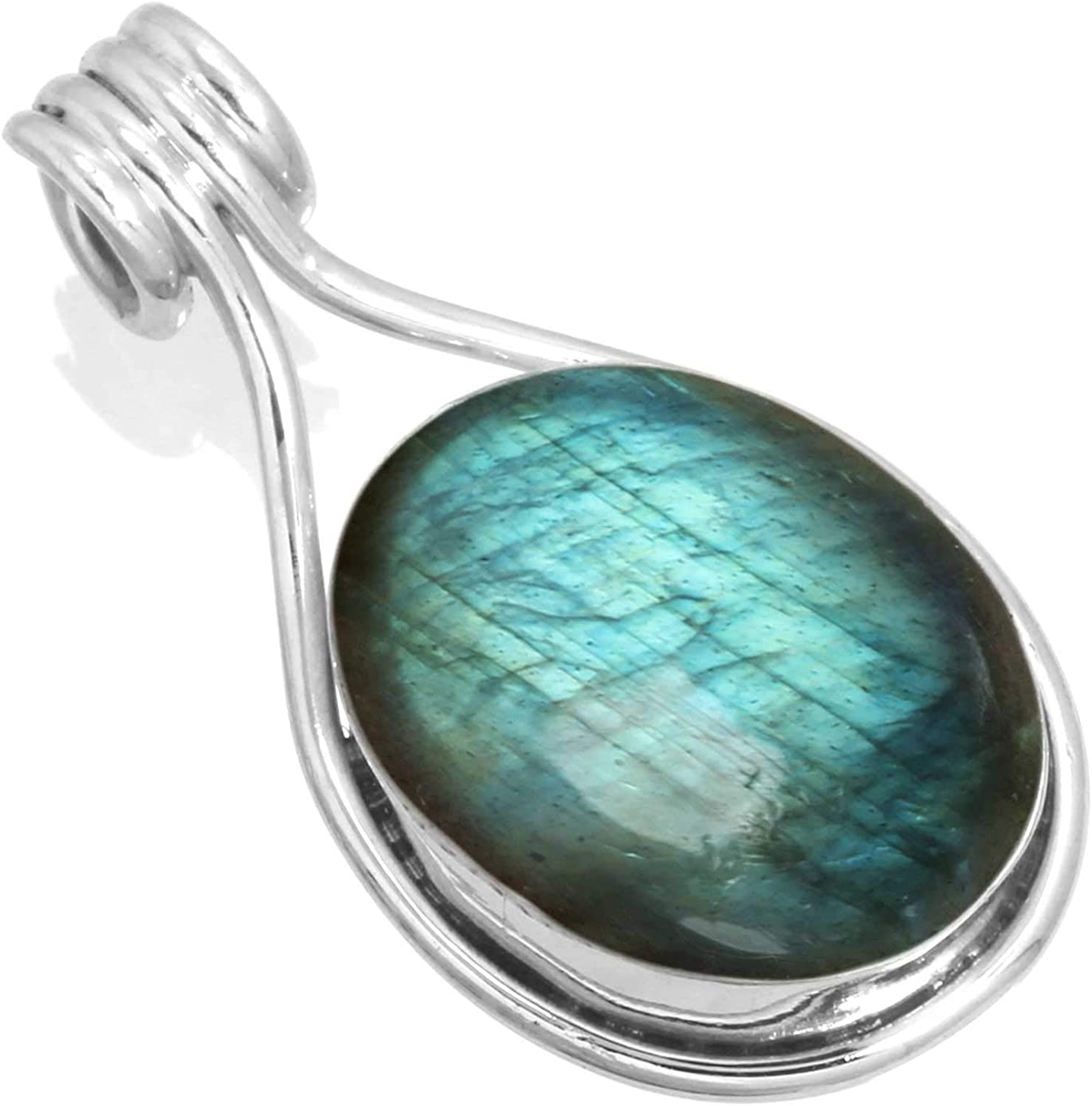 JEWELOPORIUM Solid 925 Sterling Gemstone Silver Handmade Pendant Super sale period limited Beauty products