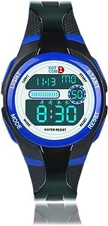 Kinderen Digitaal Horloge,5ATM Waterdicht,7 Kleuren Backlight, Uur Chime, Stopwatch, Alarm Functies, Tijd Onderwijs Jongen...