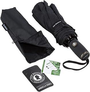 Regenschirm Taschenschirm – VAN BEEKEN – windfest sturmfest 140 km/h klein leicht kompakt – stabiler Schirm mit Auf Zu Automatik, 95cm Schwarz