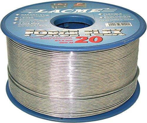 Lacme Filo Metallico Conduttore per RECINZIONI ELETTRICHE FORCEFLEX 20 in Lega di Alluminio. Bobina 400 mt