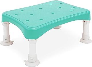 浴槽内でも使える! 吸盤付きお風呂椅子 (低座面タイプ・高さ3段階調整) 軽量アルミ製 グリーン色