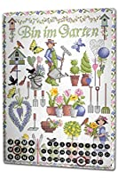 カレンダー Perpetual Calendar Kitchen Lindner garden plants Tin Metal Magnetic