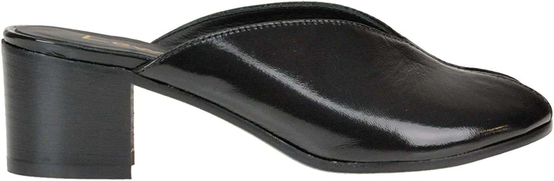 LEMARé Women's MCGLCAT000005228E Black Leather Sandals