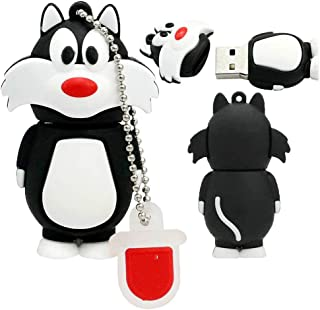 USB Flash Drive USB Flash Disk Memory Stick Thumb Pen USB2.0 Silicone Cute Animal Cartoon Cat and Mouse Shape Pendrive for...