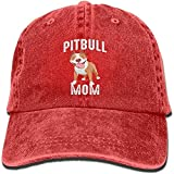 weidazodonghua310 Pitbull Mom Denim Hat Adjustable Men's Dad Baseball Hats
