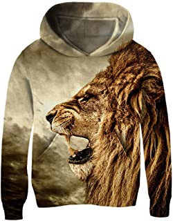 Cutemile Boys Novelty 3D Print Pullover Hoody Sweatshirts Funny Crewneck Long Sleeve Hooded Tops with Pocket 3-13 Years