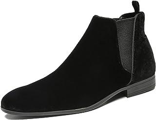 Chelsea Boots Uomo Scarpe Comode Scarpe Scamosciate Elastiche Autunno Inverno Moda Scarpe Stile Classico Slip On Boots