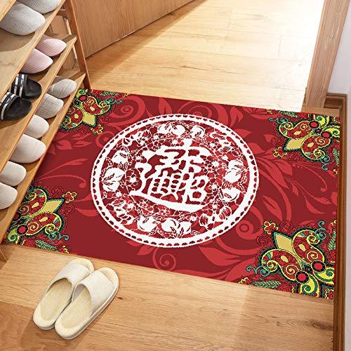 Wedding Red Erste Schritte Couchtisch 40 * 60CM,Waschbar Hochstuhl Bodenmatte Baby rutschfeste Wasserdicht Tischdecke Tuch Cartoon Bodenschutz Kissen für Zuhause