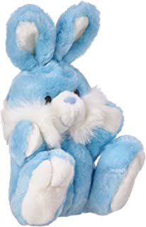 Rabbit Shaped Fur Stuffed Toy for Kids - Light Blue and White
