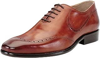 Brune Tan Color Leather Formal Oxford Shoes for Men