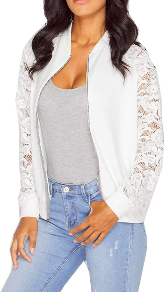 It is very popular YAnGSale Top Women Max 73% OFF Lace Blouse Stitching Coat Jacket Zipper