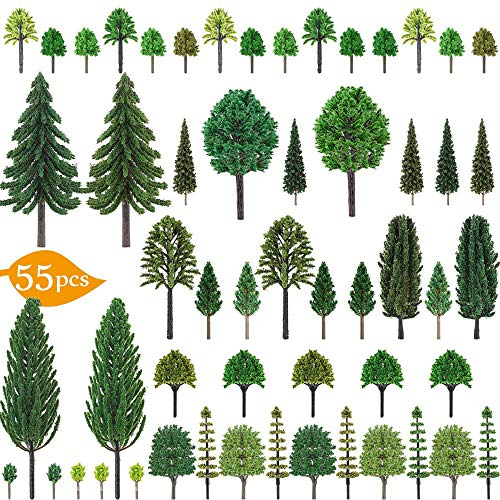 Nilos 55pcs Mixed Model Trees, 1