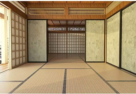 DaShan 14x10ft Japan Traditional Residence Backdrop Japanese Style Living Room Photography Background Wooden Floor Interior Decoration Wallpaper Kids Adult Portrait Photo Studio Props