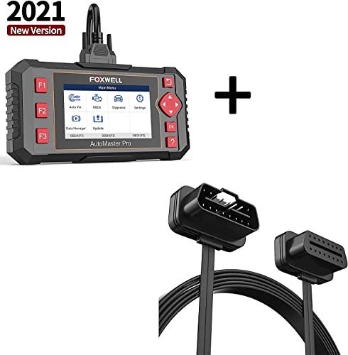 2021 FOXWELL NT604 discount Car Scanner ABS SRS Transmission 2021 and FOXWELL OBD2 Extension Cable 16pin sale