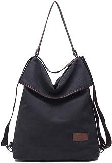 Travistar Damen Canvas Schultertasche Rucksack Groß Handtasche Vintage Damen Umhängentasche Anti Diebstahl Tasche Damen Ho...