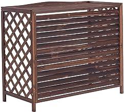 Rejilla de madera para aire acondicionado al aire Radiador de aire acondicionado, soporte para macetas para jardín, aire acondicionado exterior cubierta exterior, estante de plantas independientes FYZ