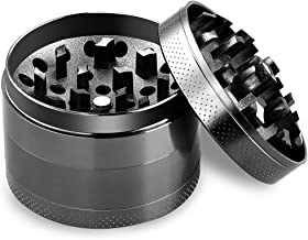 Anpro Premium Aluminum Grinder with Sifter and Magnetic Top for Dry Herb and Tobacco with Better Quality - 4 Pieces 2.15 Inches (55mm)