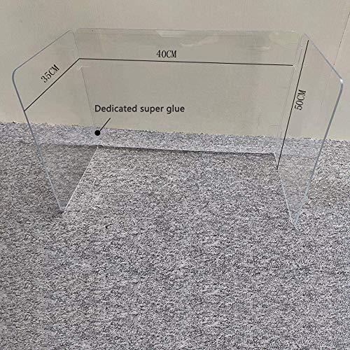 Zixin Schreibtisch Divid Dispenss Sneeze Guard Shield, Schutz-Schirm for Schreibtisch und Grafen, Transparent einfach zu kommunizieren-60 * 30CM (Color : 40 * 35 * 50cm)