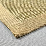 casa pura Sisal Teppich aus Naturfasern | mit Bordüre aus Baumwolle | pflegeleicht | viele Größen und Farben (Natur/Bordüre Natur, 70x130 cm) - 6