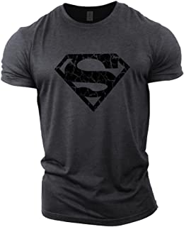 GYMTIER Mens Bodybuilding T-Shirt - Superman Vascular - Gym Training Top