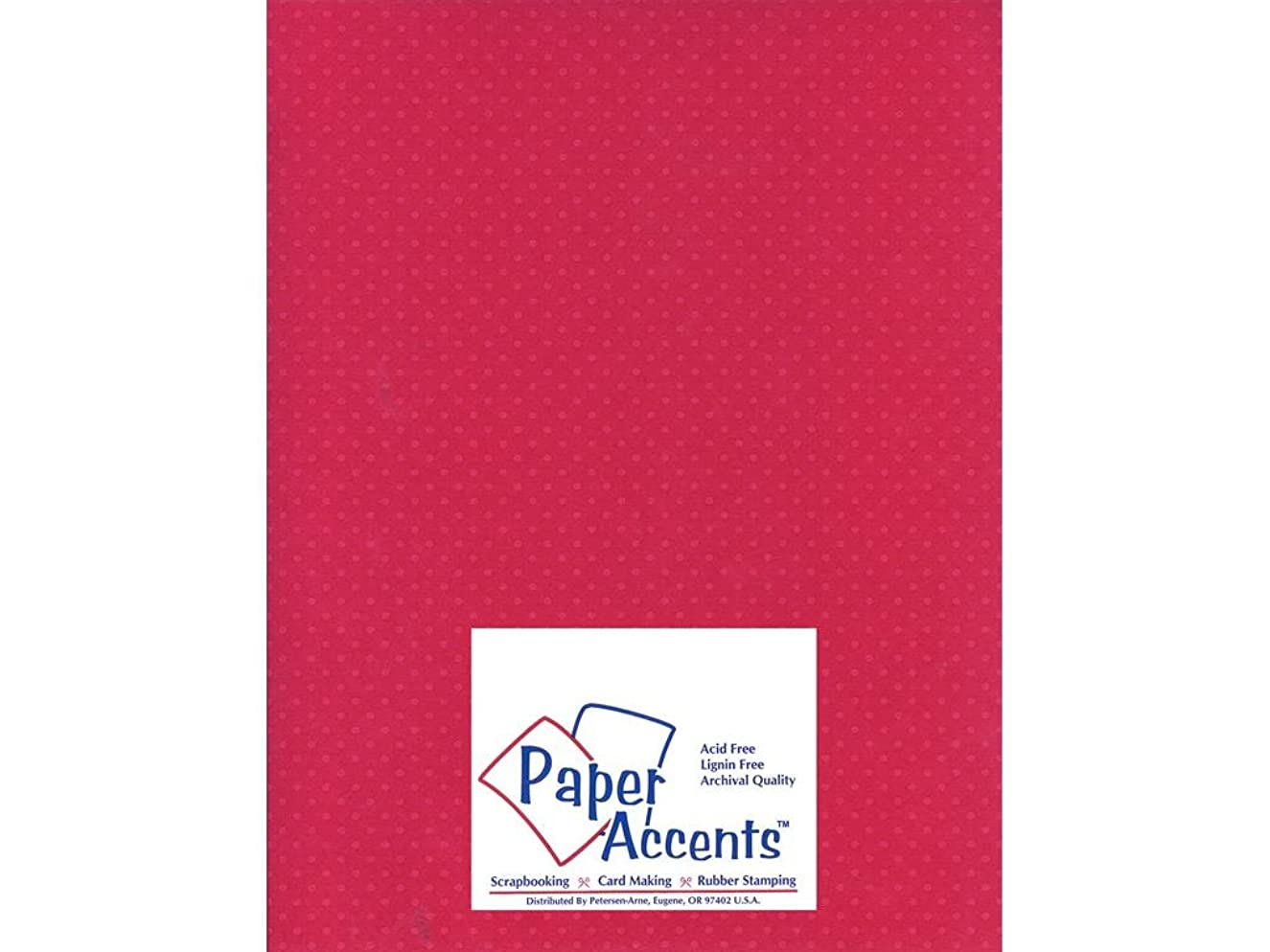 Accent Design Paper Accents Cdstk Mini Dots 8.5x11 80# Rose Heather