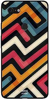 Google Pixel 3XL Case Cover Paths of Multiple Colors Pattern, Moreau Laurent Premium Design Phone Covers