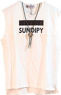 [ファンノシ]Fanessy メンズ タンクトップ 英語文字 大人気 半袖 原宿スタイル ゆったり 復古風 春夏 個性な ロング丈 スポーツ おしゃれ 袖なし トレーニングウェア tシャツ 無地 ジュニア ランニング