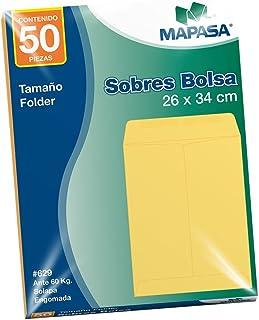 Mapasa IA0196 Paquete con 50 Sobres con Pegue Centro, Tamaño Folder