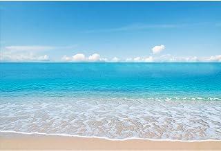 Cassisy 3x2m Vinilo Mar Fondo de Fotografia Romántico Tropical Playa de Arena Espuma Olas Playa Cielo Azul Telón de Fondo ...