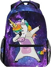 unicorn dabbing backpack