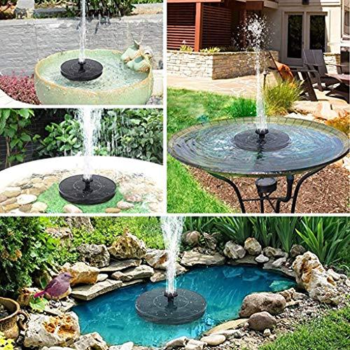 HEVÜY Solar Springbrunnen, Solar Teichpumpe Outdoor Wasserpumpe Solar Schwimmender Fontäne Pumpe mit Monokristalline Solar Panel Solarpumpe für Garten, Vogel-Bad, Teich, Fisch-Behälter