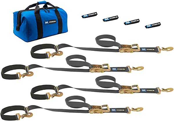 Mac S Tie Downs 511108 Black Super Pack With 8 X 2 Combination Axle Straps