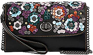 COACH Signature Desert Tulip Print Chain Crossbody