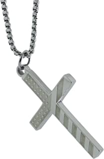 CH14 LDS Unisex CTR Necklace American Flag Cross Stainless Steel One Moment in Time