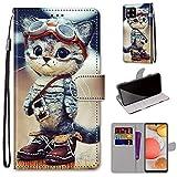 Wigento Für Samsung Galaxy A42 5G A426B Kunstleder Tasche