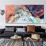 Impresión de lienzo abstracto colorido lienzo pintura arte impresión cartel pinturas de pared sala de estar dormitorio decoración del hogar 60x120 CM (sin marco)