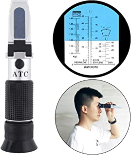 ChgImposs 3 in 1 Refractometer, ATC Glycol Antifreeze/Battery Fluid with Pipet and Mini Screw Driver Support Manual Focusing Refractometer Tester