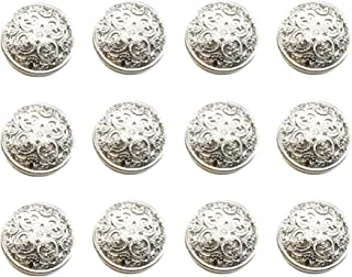 Set 8 De Metal Dorada Cabeza de Estilo Antiguo Botones De León Talla 17mm 22mm