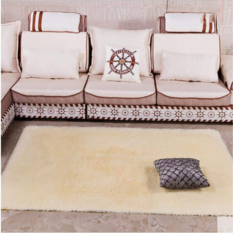 Royare Home Decorations mat Plush Carpet Rug color Long Plush Mat Home Non-Slip, Beige, 80  120Cm