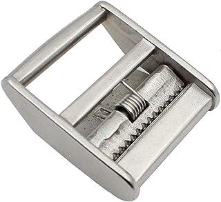 Buhui - Tendicinghia in acciaio inox, con fibbia a camma e fibbie, per cinghie da 25 mm/38 mm