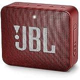 JBL GO 2 – Altavoz inalámbrico portátil con Bluetooth – Parlante resistente al agua (IPX7) – hasta 5h de reproducción con sonido de alta fidelidad – Rojo