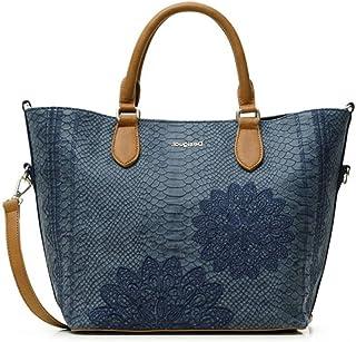Desigual PU Hand Bag, Sac à main. Femme, Bleu, Taille unique