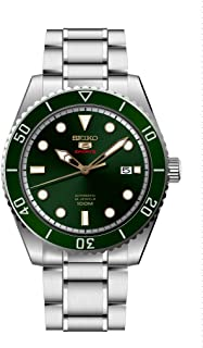 Seiko Series 5 Automatic Green Dial Mens Watch SRPB93