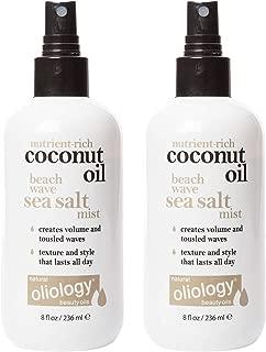 Oliology Coconut Oil Beach Wave Sea Salt Mist Spray, 8 Oz. (2 Pack)