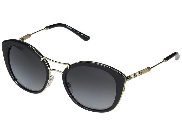 Burberry  0BE4251Q (Black/Polarized Grey Gradient) Fashion Sunglasses
