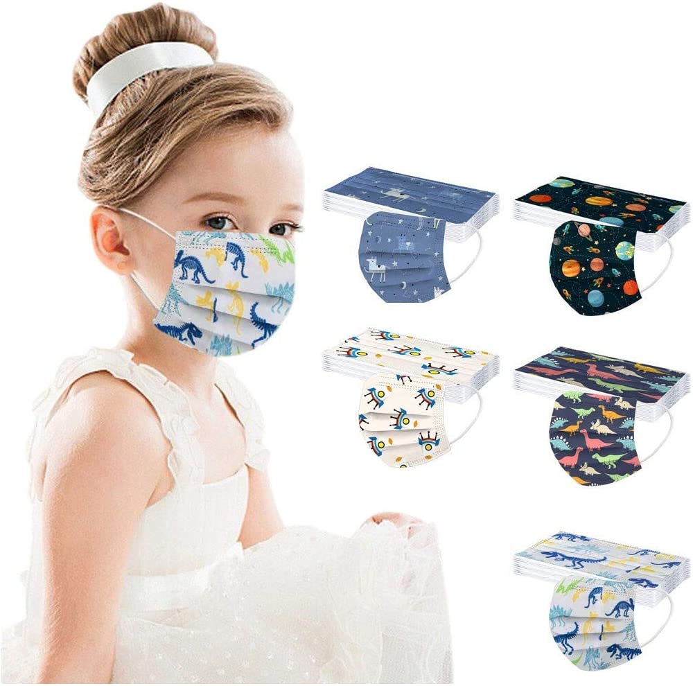 50 Pcs Kids Max 69% OFF Disposable_Face_Masks Boys for Spac Wholesale Girls Protection