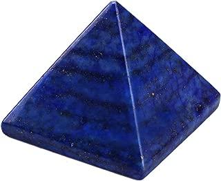 Natural Pyramid Shape Lapis Lazuli Quartz Crystal Stone for Metaphysical Gift Home Office Decor Healing Meditation Psychic Energy