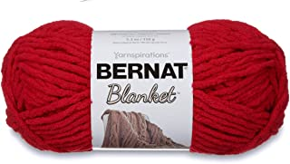 Bernat Blanket Super Bulky Yarn, 5.3oz, Guage 6 Super Bulky, Cranberry