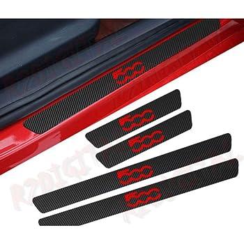 Carbon Fiber Door Sill Scuff Pedal Proteggi Car Styling Sticker soglia di copertura Nastro riflettente ad alta intensit/à bianca per 1997-2004 Chevy Corvette C5 4 pezzi