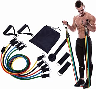 Qchomee Fitness Resistance Bands Set Elastic Training Pull Rope Exercise Equipment Workout Band Yoga Stretching Tubes Body...